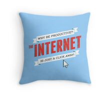 The Internet Throw Pillow