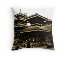 Evoked in History Throw Pillow