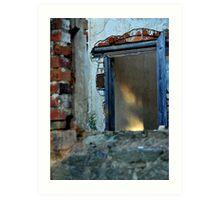 stone house window remains, old howlong rd, rutherglen Art Print