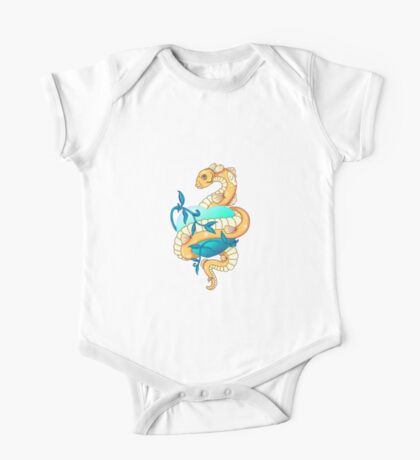 Fish Snake Tattoo One Piece - Short Sleeve
