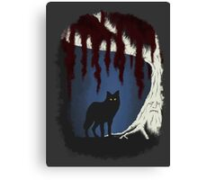 The wolf and the weirwood Canvas Print