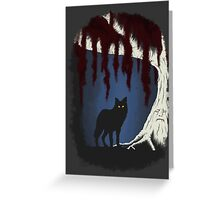 The wolf and the weirwood Greeting Card