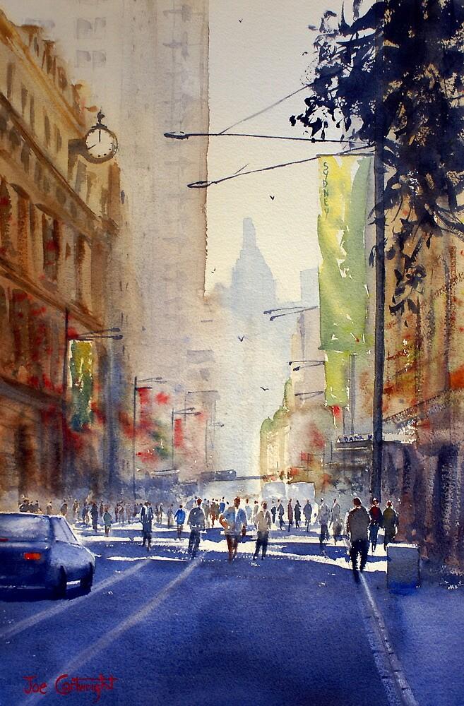 Off to Work, George Street, Sydney by Joe Cartwright