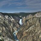 Lower Falls of the Yellowstone River by Tom Aguero