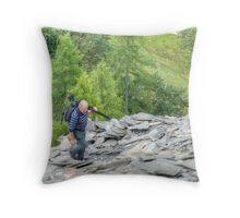 Our Day Out 5 (..The race to the summit) Throw Pillow