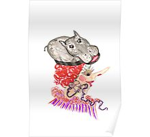 hippo hat Poster