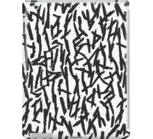 Modern Messy Black & White Paint Brushstrokes iPad Case/Skin