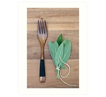 Fork and Sage Art Print