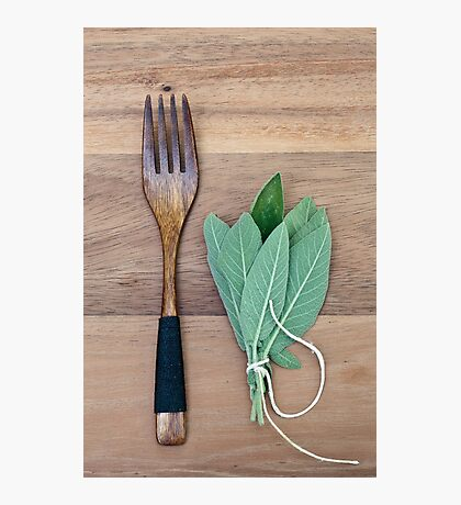 Fork and Sage Photographic Print