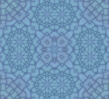 Soft Blue Tracery #2 by Lena127