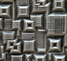 Textured Space Tiles by Phil Perkins
