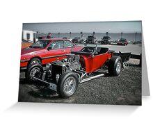 Hot Rod at the Beach ~ Custom Car Series Greeting Card