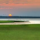 Sunset Over Assawoman Bay Bridge by Monte Morton