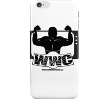 Wrestling Watching Club Glass Shatter BW Logo iPhone Case/Skin