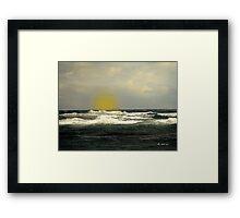 Soft Spring Sundown Framed Print
