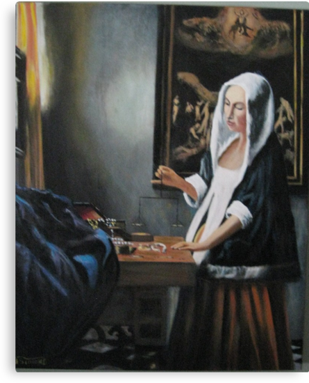 Girl at the Window with a Balance Johannes Vermeer by Jsimone