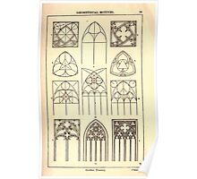 A Handbook Of Ornament With Three Hundred Plates Franz Sales Meyer 1896 0045 Gothic Tracery Geometrical Movies Poster