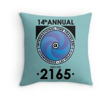 The Time Traveler's Conference 2165 Throw Pillow