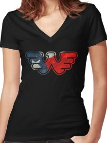 Texas Flying W Women's Fitted V-Neck T-Shirt