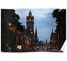 Princes Street - Edinburgh Poster