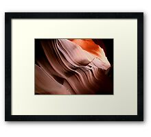 Antelope Canyon's soft curves Framed Print
