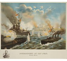 Bombardment of San Juan Porto Rico May 12 1898 Photographic Print