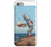 robot sailboat iPhone Case/Skin