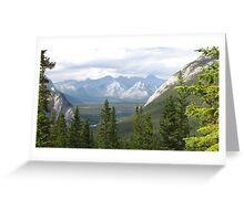 Banff view Greeting Card