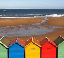 Beach Huts 2 by IngridSonja