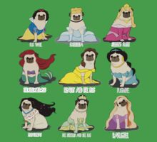 Pug Princesses Kids Tee
