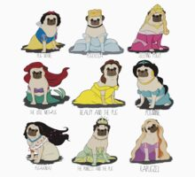 Pug Princesses One Piece - Long Sleeve