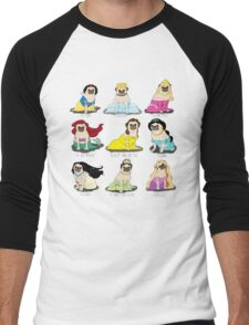 Pug Princesses Men's Baseball ¾ T-Shirt