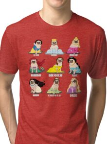 Pug Princesses Tri-blend T-Shirt