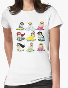 Pug Princesses Womens Fitted T-Shirt