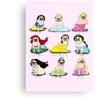 Pug Princesses Metal Print