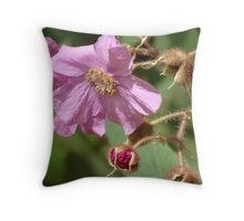 Suspended - Rosaceae Throw Pillow