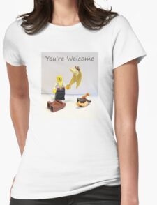You're welcome Womens Fitted T-Shirt