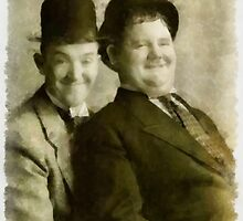 Laurel and Hardy by John Springfield by esotericaart