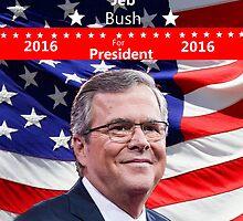Jeb Bush for President 2016 by Edmond  Hogge
