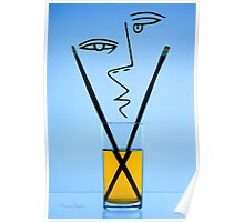 Cocktails with Picasso - Print Poster
