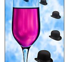 Cocktails with Magritte - Titled Print by Mark Podger