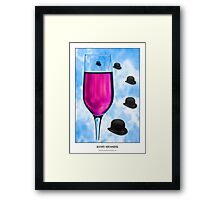 Cocktails with Magritte - Titled Print Framed Print