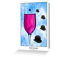 Cocktails with Magritte - Titled Print Greeting Card