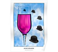 Cocktails with Magritte - Titled Print Poster