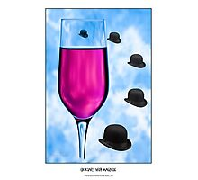 Cocktails with Magritte - Titled Print Photographic Print