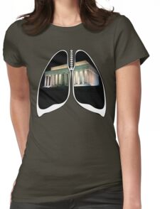 Lungs - Washington Monument Womens Fitted T-Shirt