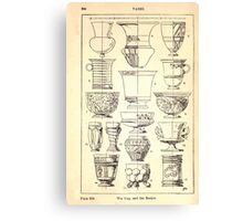 A Handbook Of Ornament With Three Hundred Plates Franz Sales Meyer 1896 0360 Vases Cup Beaker Canvas Print