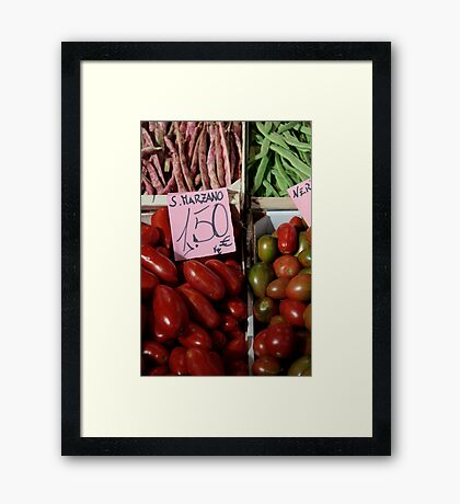 Vegetables at Italian Market Framed Print