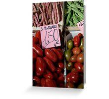 Vegetables at Italian Market Greeting Card