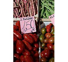 Vegetables at Italian Market Photographic Print